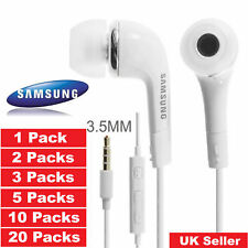 Headphones Earphones 5x 10x 20x Samsung Galaxy S4 S6 S8 Edge Note3 4 5pack lot