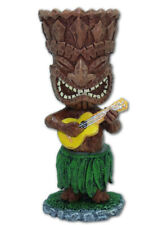"""Hawaiian Dashboard Tiki 4"""" Mini Doll Ukulele Hawaii Hawaiiana Warrior Island New"""