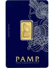 *BUY HERE>>INVESTMENT/GIFT! 5 gram Gold *PAMP Suisse - Fortuna* Bar Assay+Extras
