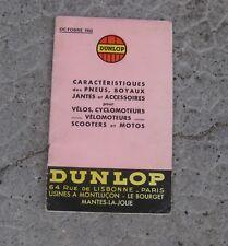 * tarif catalogue DUNLOP 1955