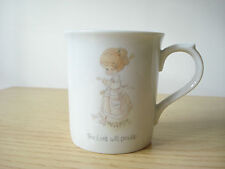Vintage 1985 Precious Moments The Lord Will Provide Porcelain Mug Cup Excellent