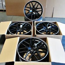 "Fits Mercedes AMG ML300 ML63 GL63 5x112 22"" Mesh Style Black Machined Lip Wheels"