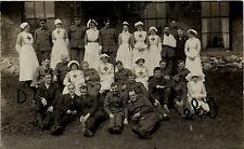 WW1 wounded Soldier group & VAD Voluntary Aid Detachment Nurses Nurse