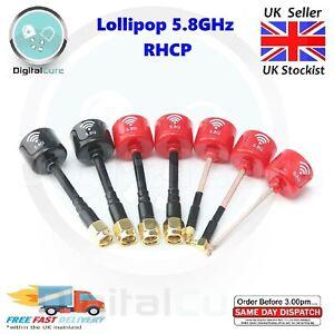 Lollipop 5.8G 2.3dBi RHCP Mini FPV Drone Antenna SMA RPSMA UFL MMCX for FOXEER