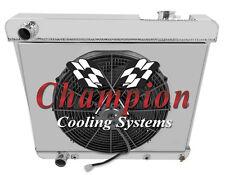 1960-1965 Cadillac All Aluminum 3 Row KR Champion Radiator Fan Shroud Combo
