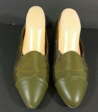 Vintage Imperial Flats Shoes Green Women's Size 8.5