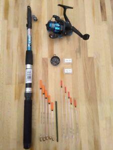 Telescopic Travel/starter kit 6ft Rod & Reel Complete Set for Coarse Fishing