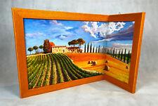 eckleinwandbild Cuadro Marco De Madera Toscana eckbild de Italia Con Marco h42cm