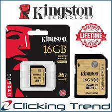 SD Card 16GB Kingston Class10 UHS-I SDHC Memory Card HD Camera 90MBs High-Speed