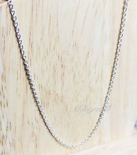 Plain Thin Fine Silver Plated Short Chain Necklace Quality Costume Fashion Exten