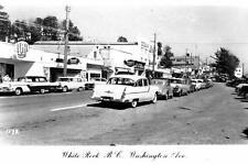 Photo. 1955-6. White Rock, BC Canada. Washington Ave - autos