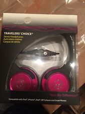 Able Planet Travelers Choice Pink Stereo Headphones, SH190PKM Linx Audio