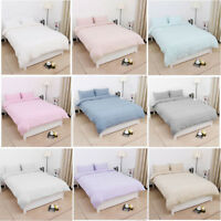 Ultra Soft Cotton Duvet Cover Zipper Closure & 2Pcs Pillow Shams Covers ALL SIZE