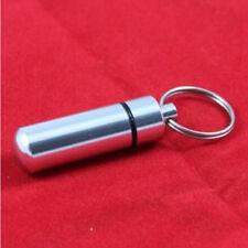 Waterproof Keyring Aluminum Drug Money Medicine Keychain Pill Box Holder Case