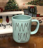 Rae Dunn Mom Collection By Magenta MAMA BEAR Farmhouse Tiffany BLUE TEAL Mug
