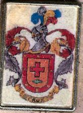 Héraldique BROCHES métallique du nom de famille : CRUZ