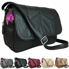 Organiser Handbag Compartments Ladies Cross Across Body Bag Long Shoulder Strap
