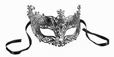 Silver Filigree Half Mask Masquerade  Adult One Size