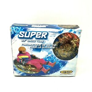 "Emsco Sports Products Super 39"" Snow Tube Inflatable Round Sled Brand New in Box"