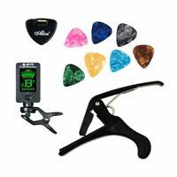 Tools Kit Guitar Tuner Capo Plectrum Holder 7 Celluloid Picks Parts Accessories