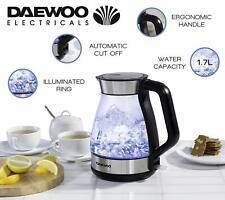 Daewoo Illuminating Crystal Clear Aqua Verre Rapide Bouillir Jug Kettle - 3000 W...