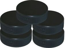 Pack Of 5 Ice Hockey Pucks - Black