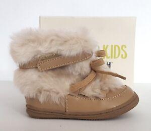 Genuine Kids from Oshkosh Infant Girls' Tan Madi Fashion Faux Fur Boots, Size 4