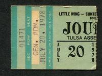 Original 1978 Journey Van Halen concert ticket stub Tulsa Oklahoma Infinity