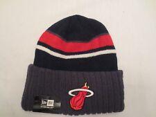 NEW ERA NBA MIAMI HEAT PREP CLASS KNIT BEANIE CAP HAT Black Grey Red NWT
