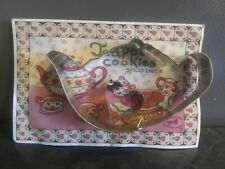 Teapot Cookies- tea pot and heart cookie cutter plus more