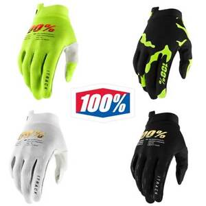 100% iTrack Gloves Adult MX Motocross MTB DH Gloves 100 Percent Black White etc