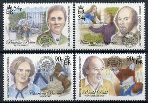 BIOT Writers Stamps 2016 MNH Beatrix Potter Bronte Shakespeare Roald Dahl 4v Set