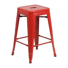 """Flash Furniture 24"""" Backless Red Metal Counter Height Stool CH-31320-24-RED-GG"""