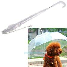New Transparent Pet Dog Puppy Umbrella with Chain For Outdoor Rain Walk Snow