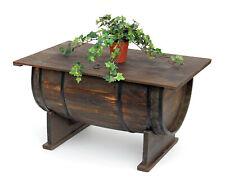 DanDiBo 5084-H Table Tonneaux de Vin en Bois - Marron