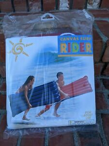 Intex Canvas Surf Rider Raft/ Float Beach- Red/Blue 60x29 - NEW!! Wow!