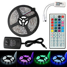 5m 150leds Changes Colors RGB Waterproof LED String Fairy Lights Kit + IR Remote