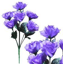 Lot of 144 Purple Poly Silk Sm Open Roses Wedding Home Decor Craft Flower