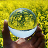 Clear Glass Crystal Ball Healing Sphere Photography Props Lensball Decor Gift 50