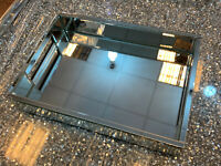 Venetian Mirror Tealight Candle Tray Plate rectangle mirrored centrepiece table