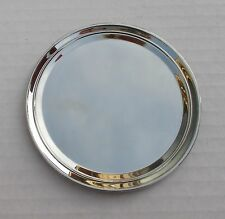 k Round DISPLAY PLATE mini TRAY metal jewelry for collectible miniature