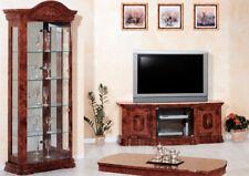 Vitrine Glasvitrine Wohnzimmer Nussbaum Hochglanz Stil Italienisch Klassisch