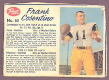 1962 POST CFL FOOTBALL 60 FRANK COSENTINO VG RC HAMILTON TIGER-CATS WEST ONTARIO
