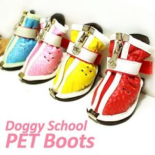 Luxury Pet Apparel- Doggy School Boots Red&Pink&Blue&Yellow Small-Large Shoes