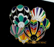 Colorful FIVE BALLOON FLIGHT ALBUQUERQUE Hot Air Balloon Fiesta LAPEL HAT PIN UP