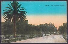 LECCE CITTÀ 23 VILLA COMUNALE - GIARDINI Cartolina viaggiata 1928