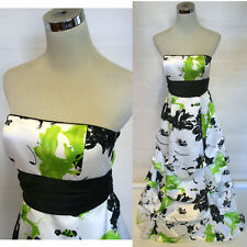 NWTJUMP APPAREL $150 White / Lime Prom Evening Gown 3