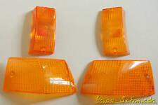 VESPA SET Blinkerglas komplett - Gelb - PX / Lusso / T5 Kit Blinker Glas Orange