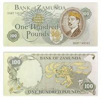 Banknote 100 pound prince Akeem + coat of arms Zamunda. Coming to America UNC