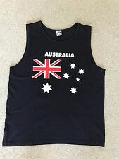 Mens Black Australia Sleeveless T-shirt - Size 2XL